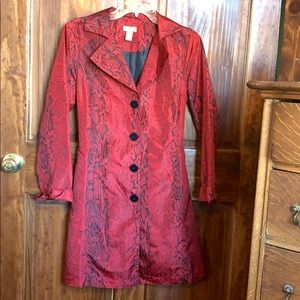 Chico's Raincoat Style Dress/Lightweight Slicker 0